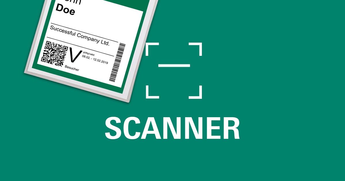 Das Bild deutet einen QR-Scanner an und zeigt ein Ticket mit solchem Code.