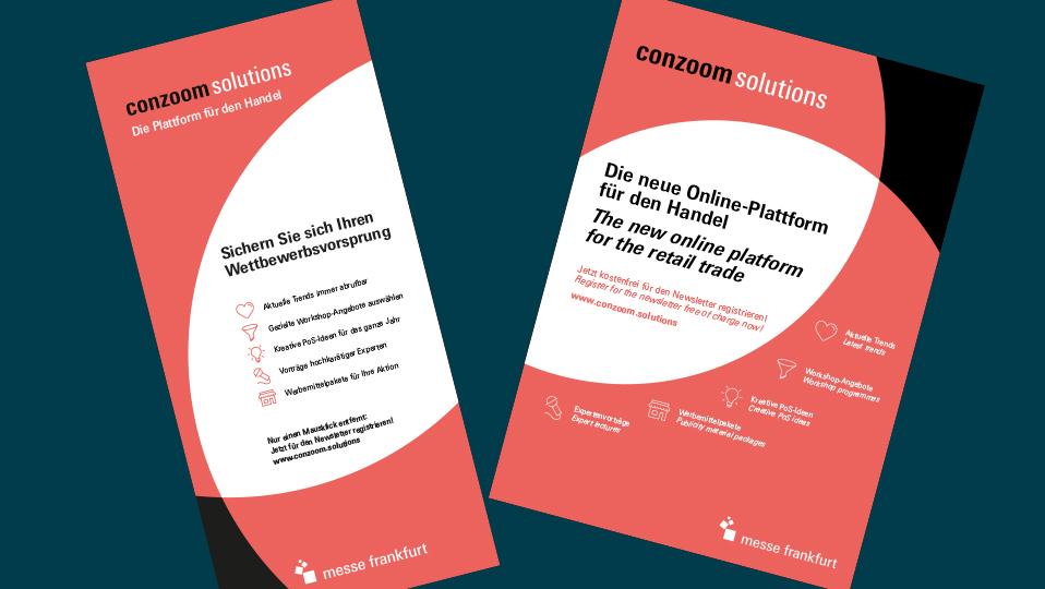 Zwei Poster von Conzoom Solutions