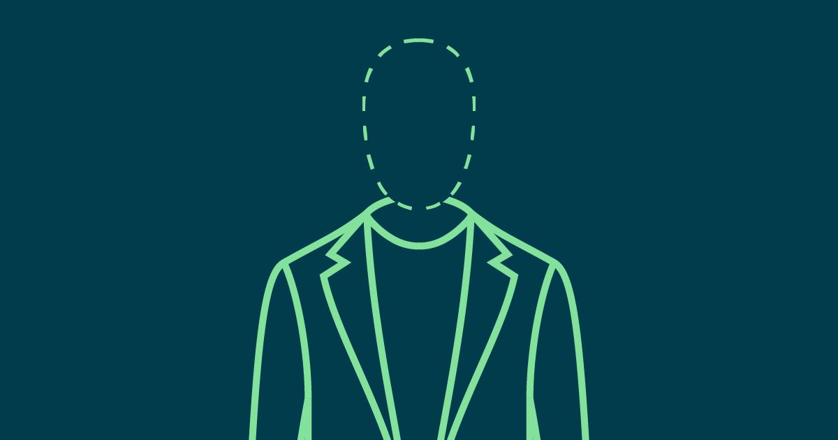Stilisierte Grafik eines verschwindenden Angestellten