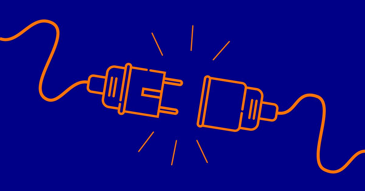 Stilisierte Grafik eines entkoppelten Steckers