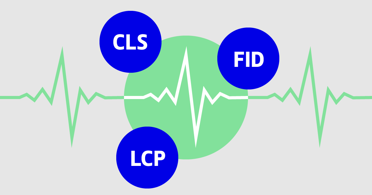 The Core Web Vitals CLS, FID and LCP