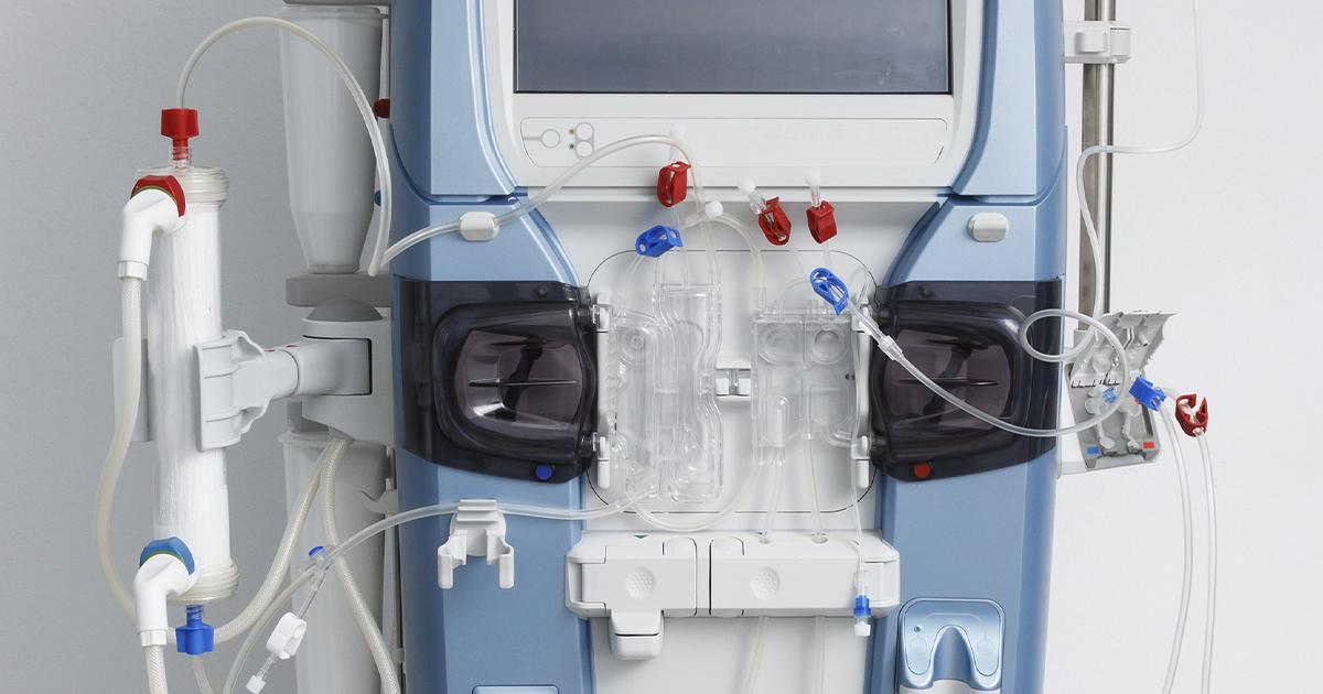 Ein Dialysegerät mit aus Medical Grade TPE hergestellten Komponenten